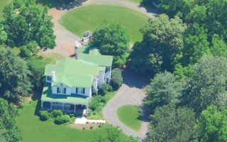 A Sky high view of the Inn on Poplar Hill in Orange, VA
