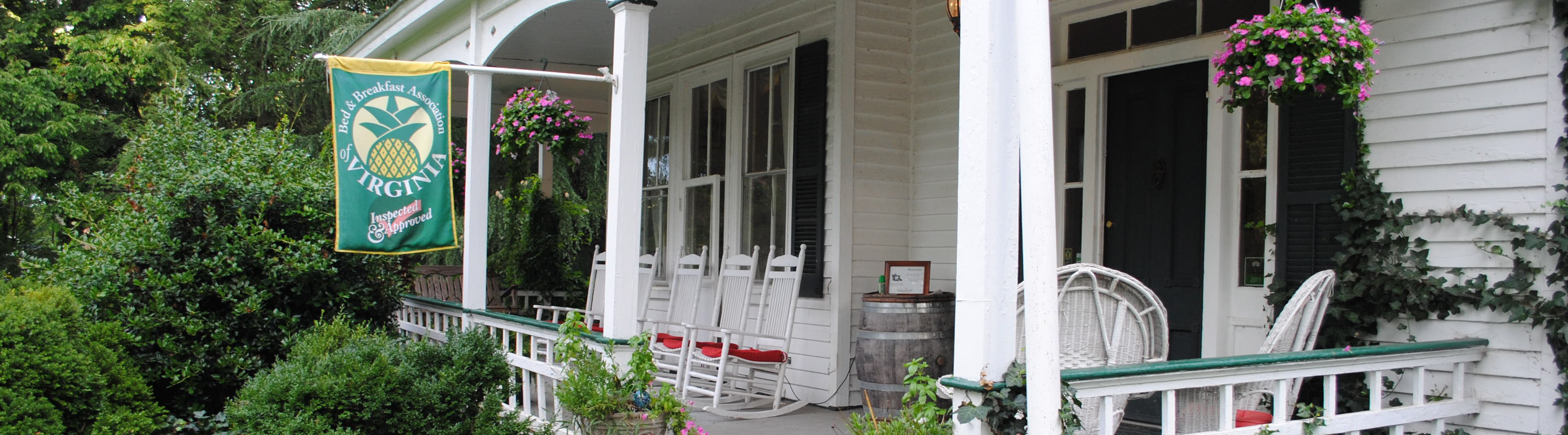 front porch Virginia B&B