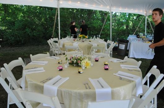 Garden Wedding table Set up