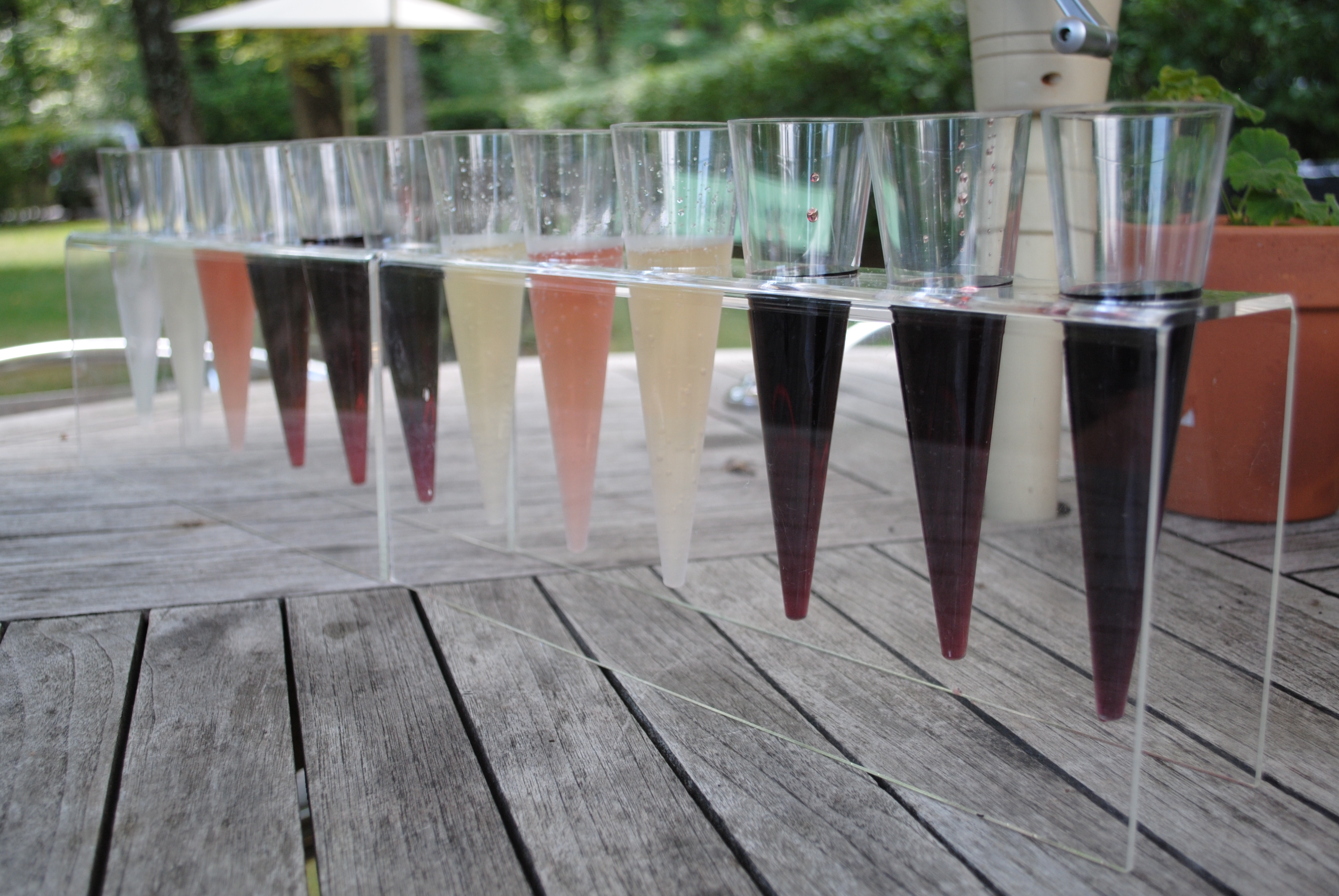 A flight of tastings at Kluge Vineyard