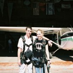 Getting ready to jump at skydive Orange