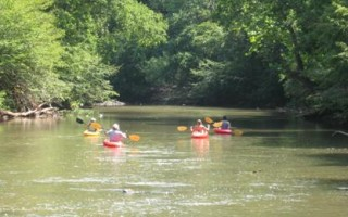 A group Kayak Trip down the Rapidan River