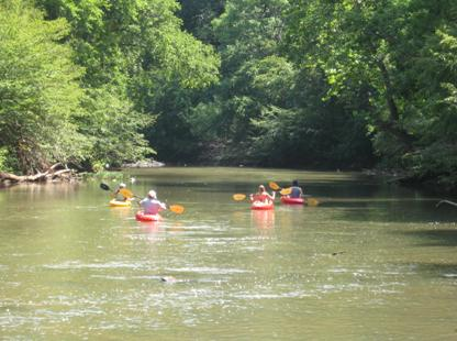 A group Kayak Trip down the Rapidan River summer specials