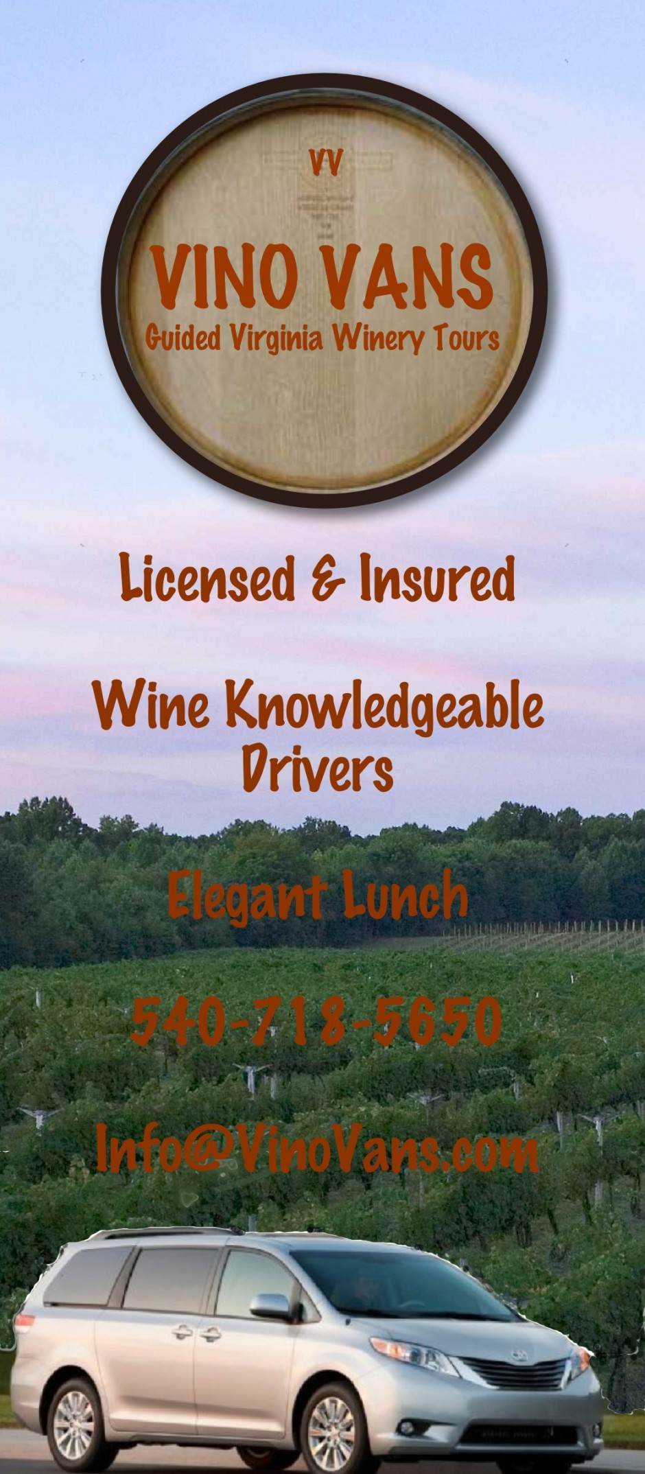 Vino Vans Guided wine tours   540-718-5650
