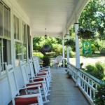 front porch at Virginia bed and beakfast