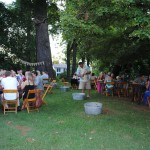 Picnic venue in the beer garden at our Virginia Bed and Breakfast Inn