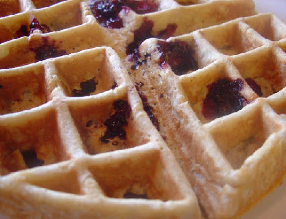 Overnight Blackberry Waffles